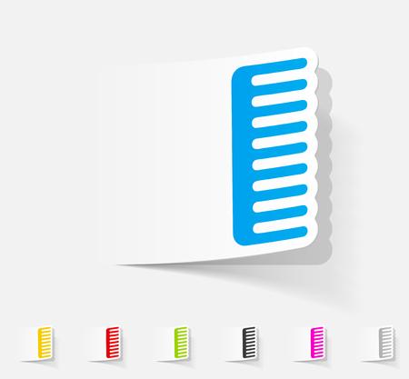 combing: realistic design element. comb