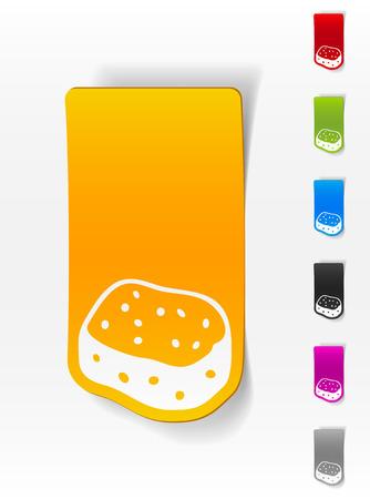 wipe: realistic design element. sponge