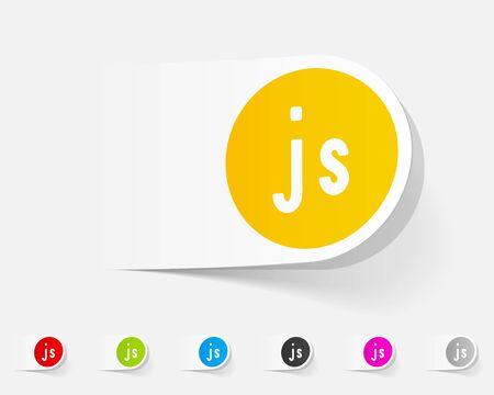js: realistic design element. js