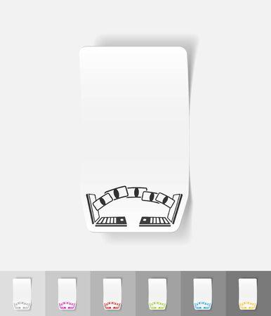 liabilities: realistic design element. online payments