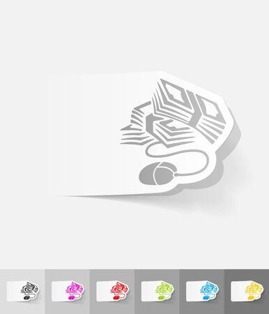 online banking: realistic design element. online banking Illustration