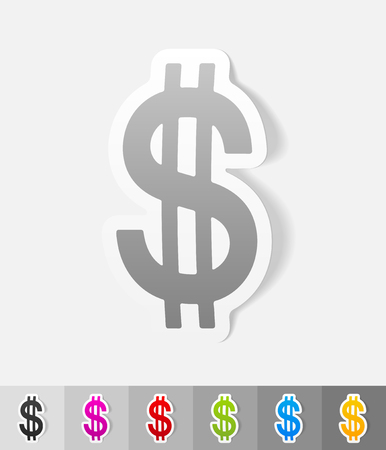 multiply: realistic design element. dollar