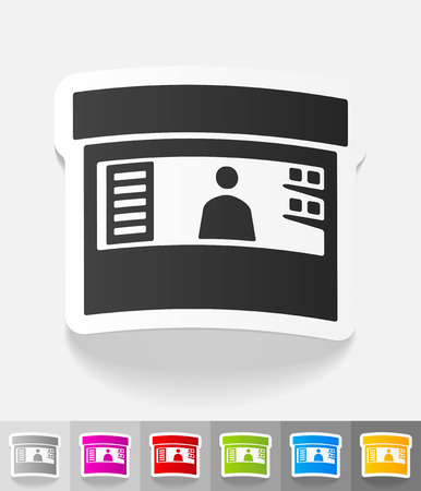 stand paper sticker with shadow. Vector illustration Illustration