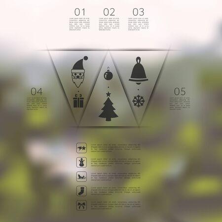 unfocused: Christmas infographic with unfocused background