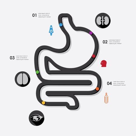 s�mbolo de la medicina: medicina infograf�a
