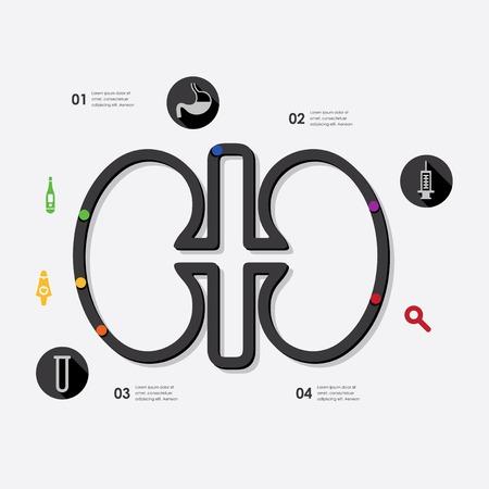 simbolo medicina: medicina infograf�a