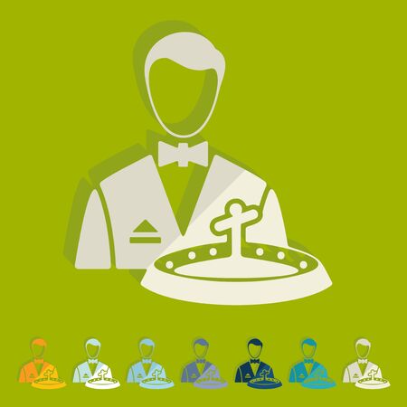 dealer: Flat design: casino dealer