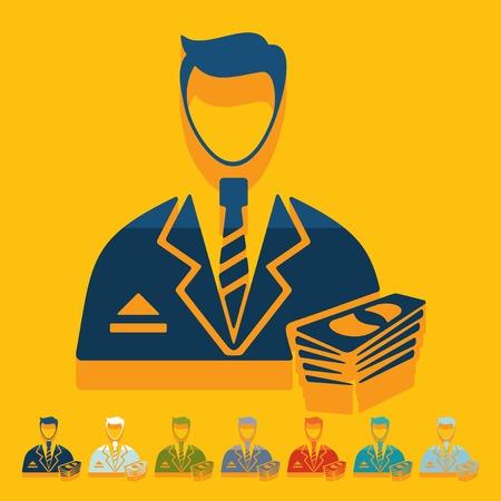 professionalism: Flat design: businessman Illustration