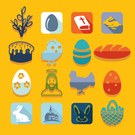 patience: Set of easter icons