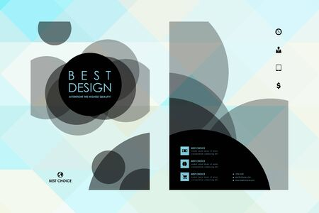 broshure: Set of brochure, poster templates in abstract style