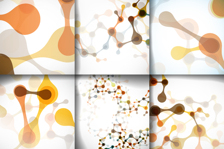 deoxyribose: Set beautiful abstract structures of the DNA molecule