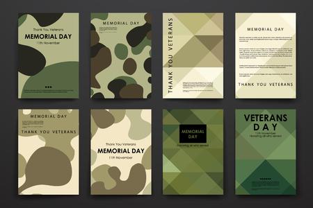 パンフレット、ポスター テンプレートが復員軍人の日スタイルのデザインとレイアウトの設定