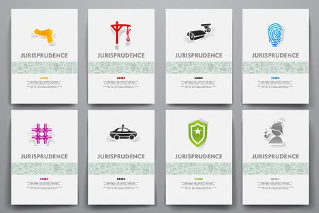 jurisprudencia: Identidad corporativa plantillas de conjunto con el tema garabatos jurisprudencia
