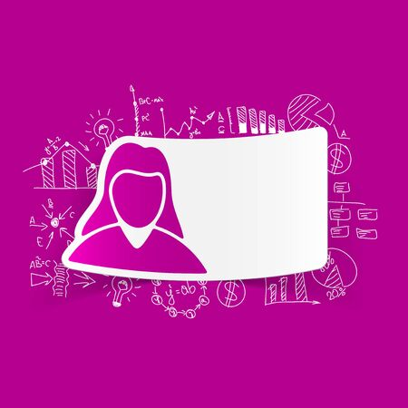 zakelijke vrouw: drawing business formulas with woman sign