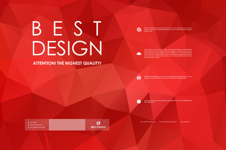 diamond background: Set of brochure, poster templates in polygonal style design and layout