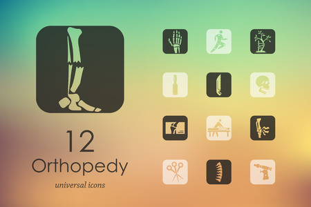 orthopedics modern icons for mobile interface on blurred background