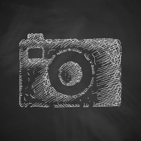 digicam: photo icon Illustration