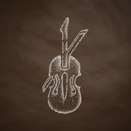 fiddles: violin icon Illustration