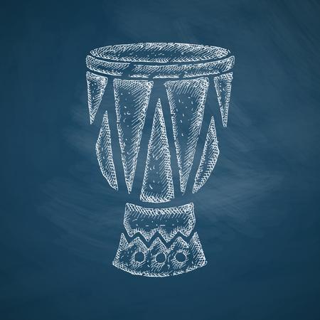 leather goods: drum icon Illustration