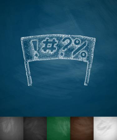 manifest: Symbol icon. Hand drawn illustration Illustration