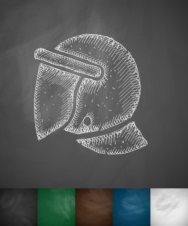 crash helmet: crash helmet icon. Hand drawn illustration