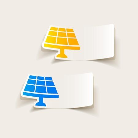 solar battery: realistic design element: solar battery