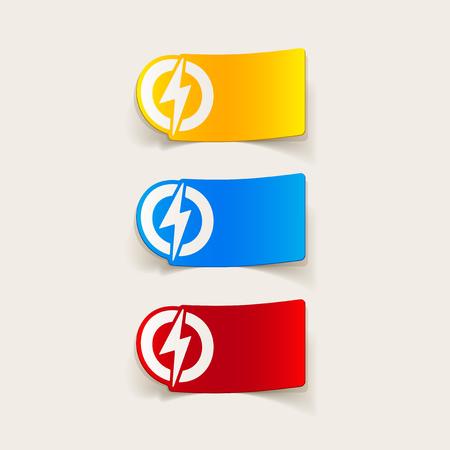 blitz symbol: realistic design element: lightning bolt