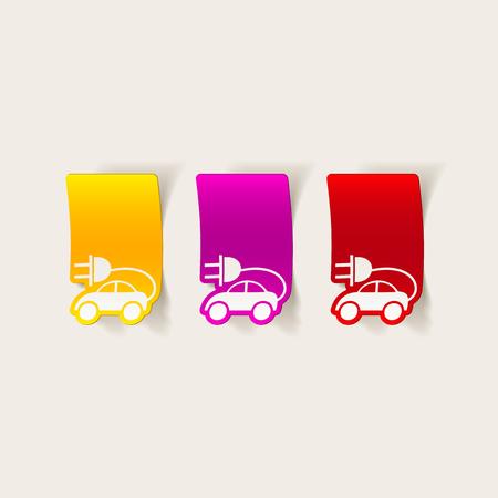 ecological adaptation: realistic design element: eco car Illustration