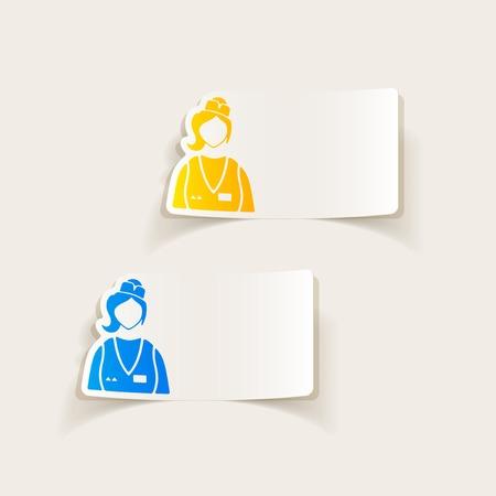 specialty store: realistic design element. saleswoman Illustration