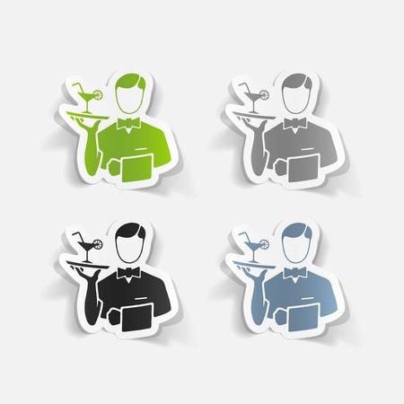professionalism: realistic design element. waiter