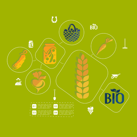 conceptual symbol: agriculture flat infographic