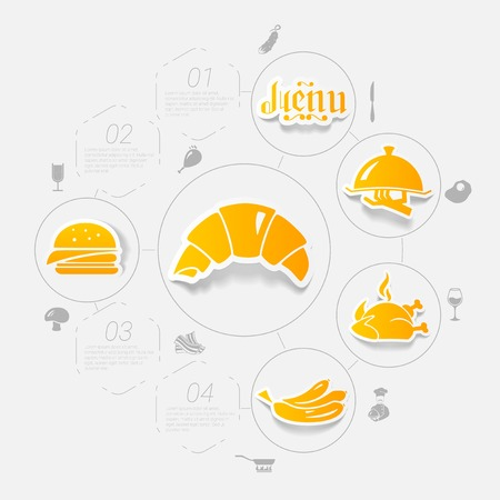 comfort food: restaurant sticker infographic