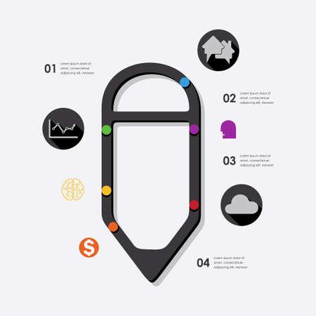 üzlet: business infographic Illusztráció