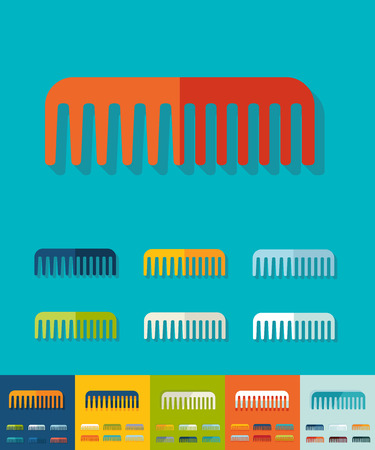scallop: scallop icon in flat design with long shadows. Vector illustration