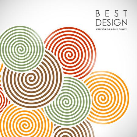 É um bacrground colorido abstrato com elementos em espiral