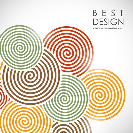It is an abstract colourful bacrground with spiral elements Illustration