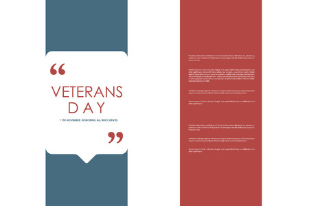 veterans: Set of brochure, poster templates in veterans day style. Beautiful design and layout