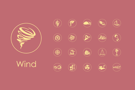 flurry: It is a set of wind simple web icons