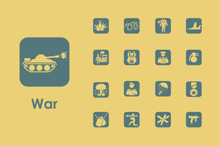 warhead: It is a set of war simple web icons Illustration