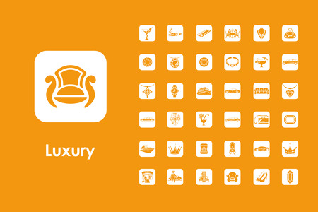 wealthy lifestyle: It is a set of luxury simple web icons Illustration