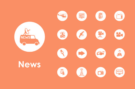 interviewer: It is a set of news simple web icons Illustration