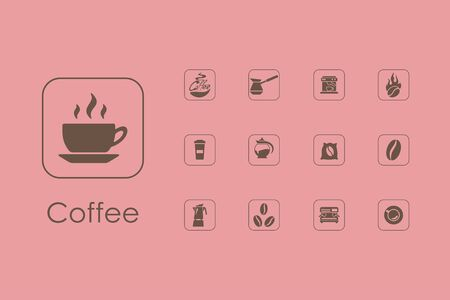 soluble: It is a set of coffee simple web icons