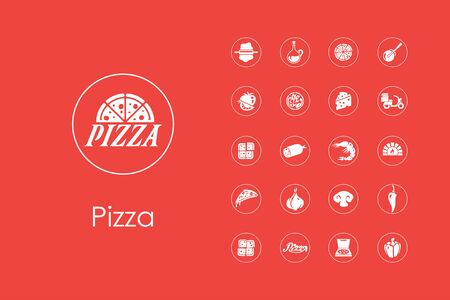 pizza dough: It is a set of pizza simple web icons