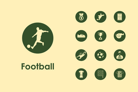offside: It is a set of football simple web icons