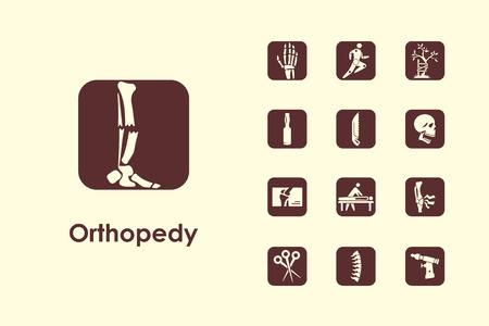Het is een set van orthopedie eenvoudige web iconen Stock Illustratie