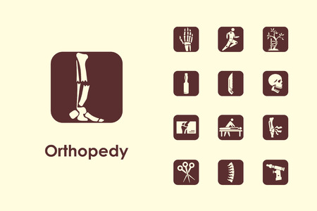 It is a set of orthopedics simple web icons