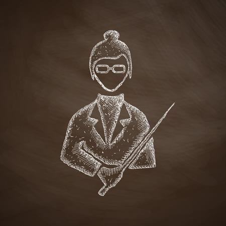 professionalism: teacher icon Illustration