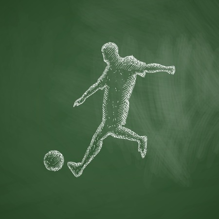 striker: soccer player icon