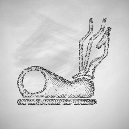 elliptical: elliptical cross icon Illustration