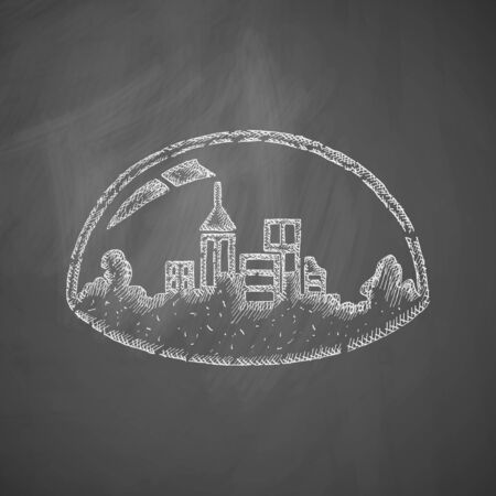 futurism: domed city icon